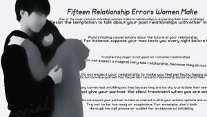 Fifteen Relationship Errors Women Make