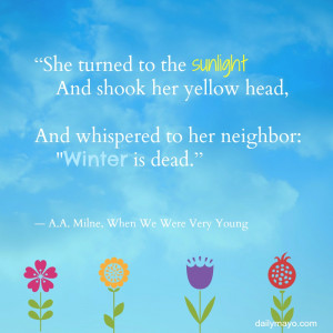 She turned to the sunlight and shook her yellow head, and whispered to ...