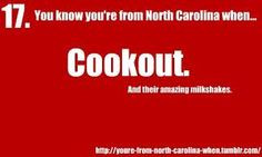 You know you're from North Carolina when.... More