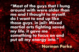 Norman Parke: Mixed Martial Arts saved my life