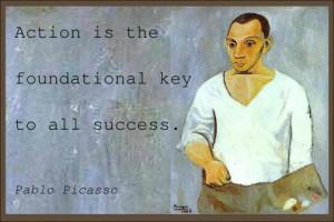 Pablo Picasso's famous success quotes.