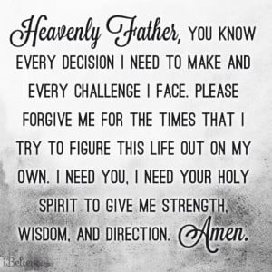 prayer for strength wisdom and direction