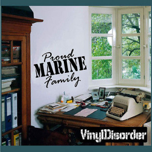 Proud Marine Family Patriotic Vinyl Wall Decal Sticker Mural Quotes ...