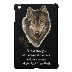 Watercolor Wolf Pack Family Quote Animal