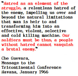 ... , like his hero Che Guevara did, will come in a subsequent speech