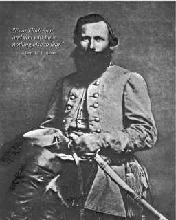 11x14 Civil War Photo w/ Quote Confederate JEB Stuart