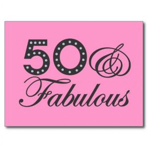 50 & Fabulous Gift Postcard