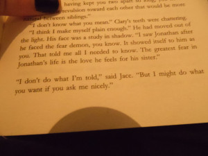 The Mortal Instruments ~ jace quote by stayweirdphotography