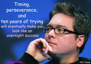 ... success – Christopher Isaac Biz Stone – business picture quote