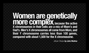 10. Men and women's brains are different genetically.