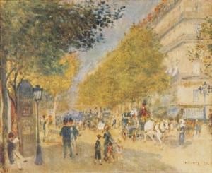 Bild: Pierre-Auguste Renoir - Boulevard im Frühling