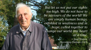 Jean Vanier is pictured here near his home in Trosly, France, 2011