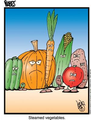 steamed vegetables...