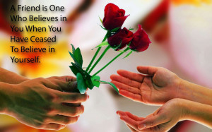 Rose Flower With Friendship Quotes Wallpaper