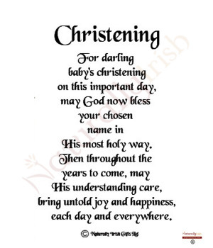 Baby Christening Poems Verses