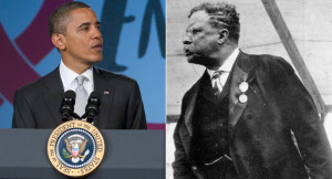 President Obama is conjuring the legacy of a president who took on ...