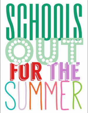 School's Out for Summer via PartyBoxDesign