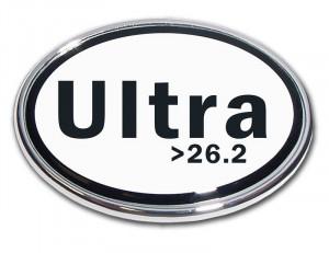 Ultra Marathon >26.2 Chrome Auto Emblem
