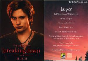 Alice, Jasper, Carlisle 'Breaking Dawn' Character Cards Revealed