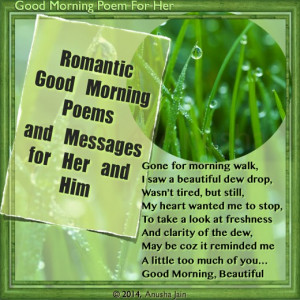 Good Morning Beautiful - Rhyming Romantic poem for her