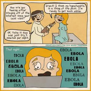 Hypochondria internet cartoon about ebola and the media scare