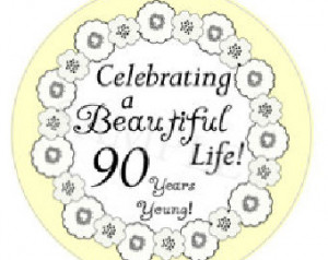 90th Birthday Stickers. Set of 20 S tickers. Personalized Milestone ...