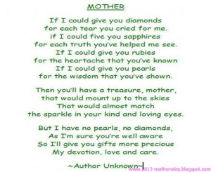 happy mother's day 2013 new poems