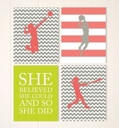 Sports art for girls, girl inspirational quote, volleyball girl ...