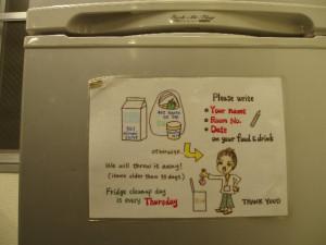 clean fridge notice