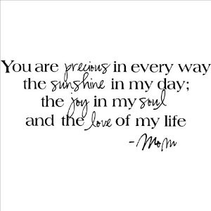 ... My Soul and the Love of My Life -Mom wall sayings vinyl lettering home
