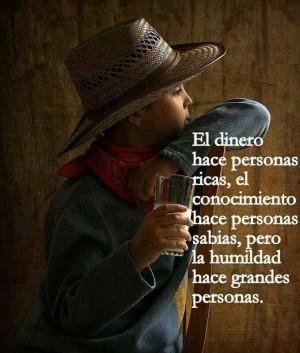 La humildad!!!