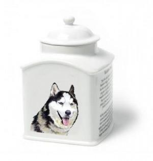 Siberian Husky Dog Van Vliet Porcelain Memorial Urn