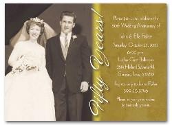 Custom 50th Anniversary Invitations
