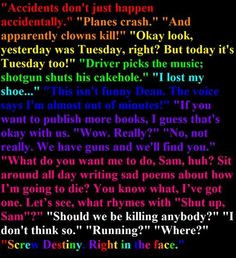 supernatural obsession supernatural s quotes funny supernatural quotes ...