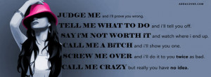 Judge Me And I'll Prove You Wrong Facebook Cover