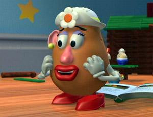 toy story 2 my little sweet potato mr potato head calls to his wife ...