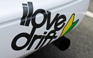 Sticker I Love Drift Google Themes