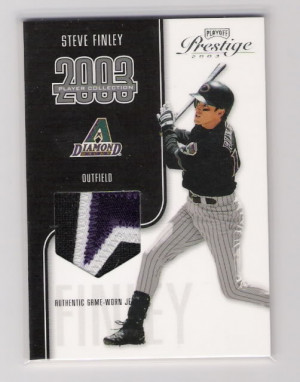 ... Playoff Prestige Player Collection Patch Steve Finley NNO 180325 Image