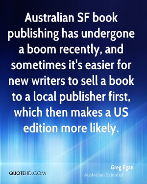 Australian SF book publishing has undergone a boom recently, and ...