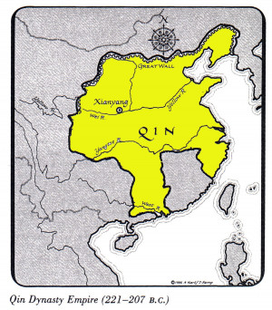 The Qin dynasty was bigger then the Zhou dynasty it has four ...