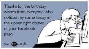 Facebook birthday reminder