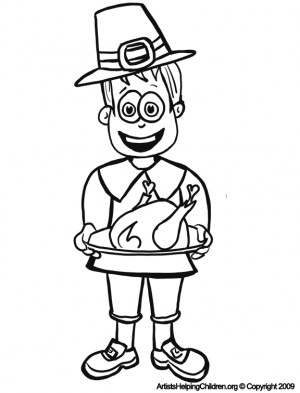 Free Printable Thanksgiving Coloring Pages Pilgrim Hat For Kids