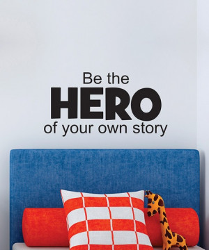 Belvedere Designs Black 'Be the Hero' Wall Quote