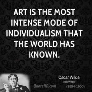 ... is the most intense mode of individualism that the world has known