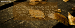 Dry Autumn Leaf Quote Facebook Timeline Cover Photo