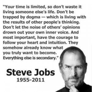 ... Apple founder Steve Jobs died Oct. 5th at the young age of 56. R.I.P