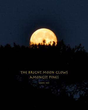 Moon Love Quotes Full moon, bright moon amongst
