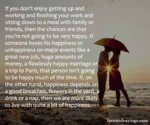 Live With A Quite a bit of happiness