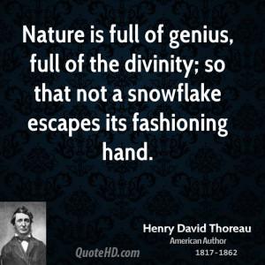 Henry David Thoreau Nature Quotes