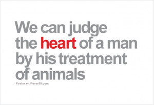 Man's Treatment Of Animals | Dog Quote Poster